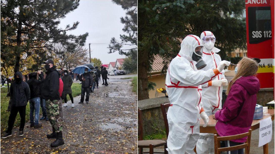 celoplošné testovanie, 31. október 2020 Slovensko koronavírus
