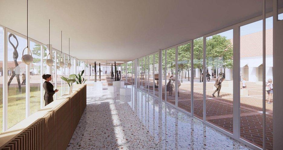 škola budova školstvo architektúra stavba design slovenské školy deti trieda jedáleň park vizualizacia stupava