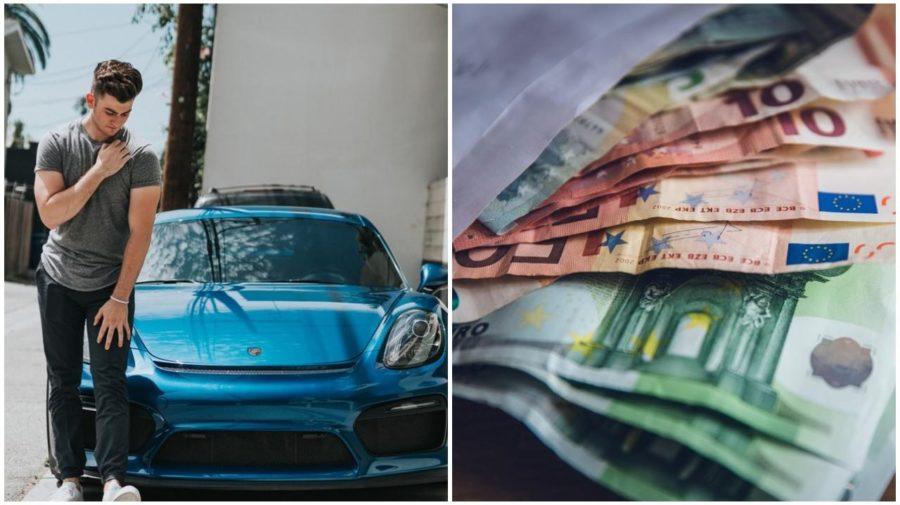 muz, auto, peniaze