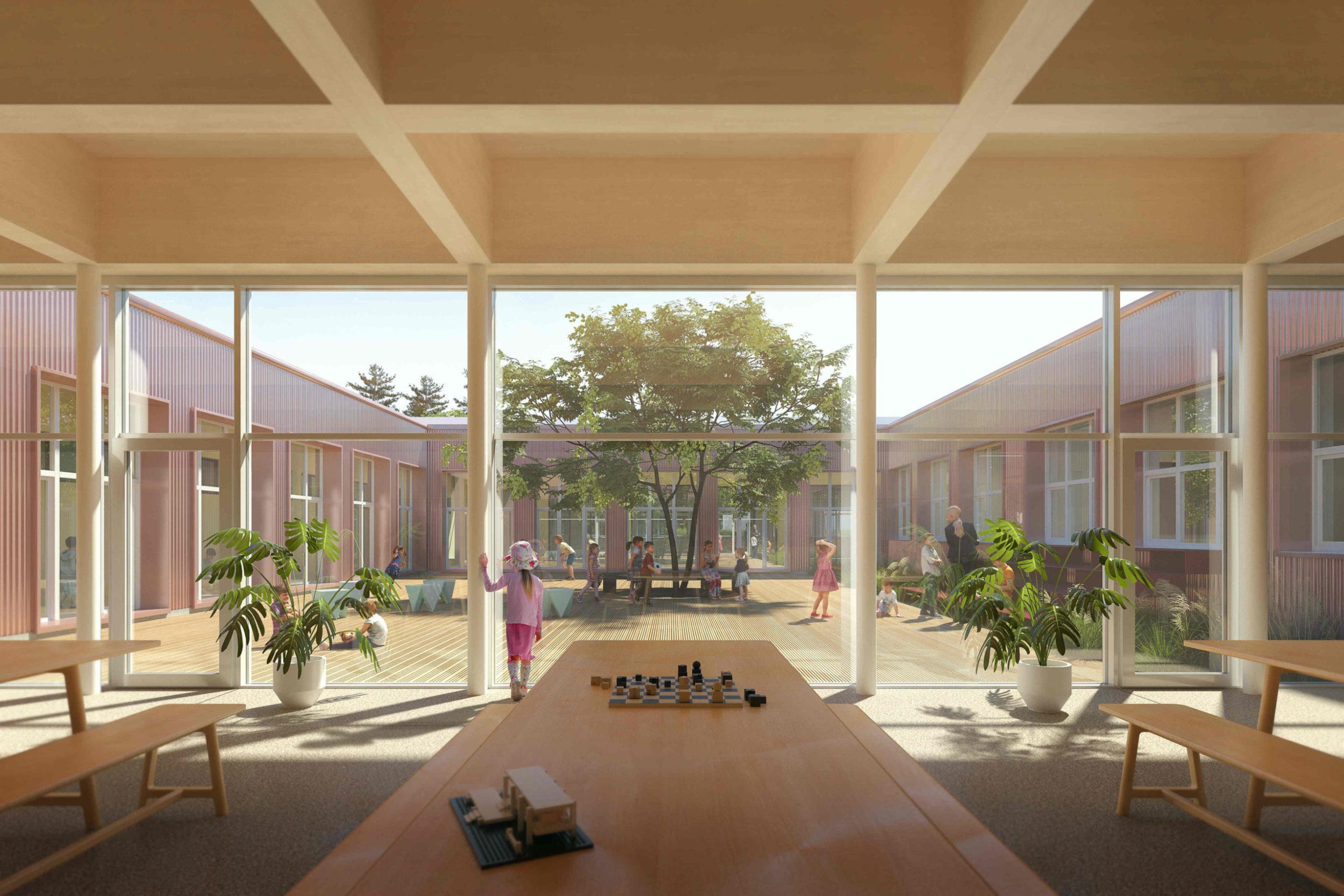 lozorno škola budova školstvo architektúra stavba design slovenské školy deti trieda jedáleň park