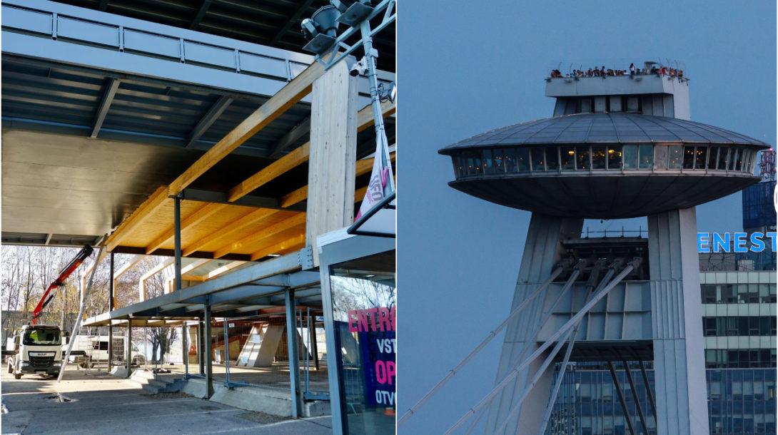 UFO nepovolená stavba Most SNP