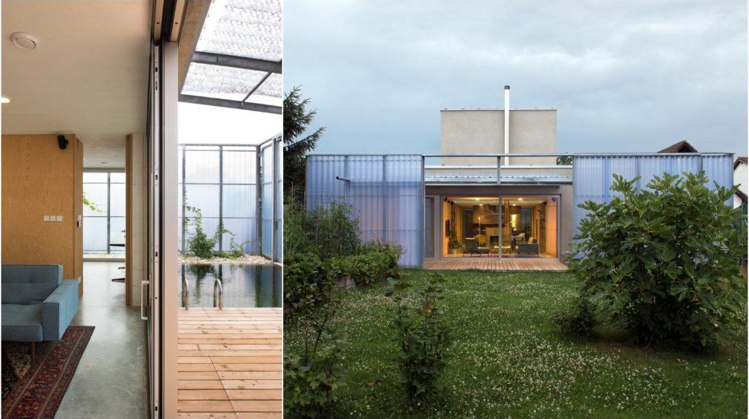 Plural Daniela Dostálková architektúra, design, rodinný dom, sklenník, bazén,