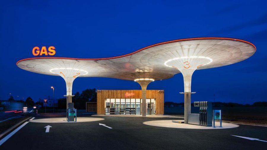 Atelier SAD, Tomas Soucek, architektúra design čerpacia stanica, benzinka, pumpa, galanta