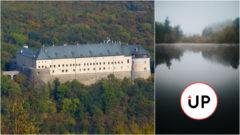 Červený kameň hrad Slovensko zámok jeseň