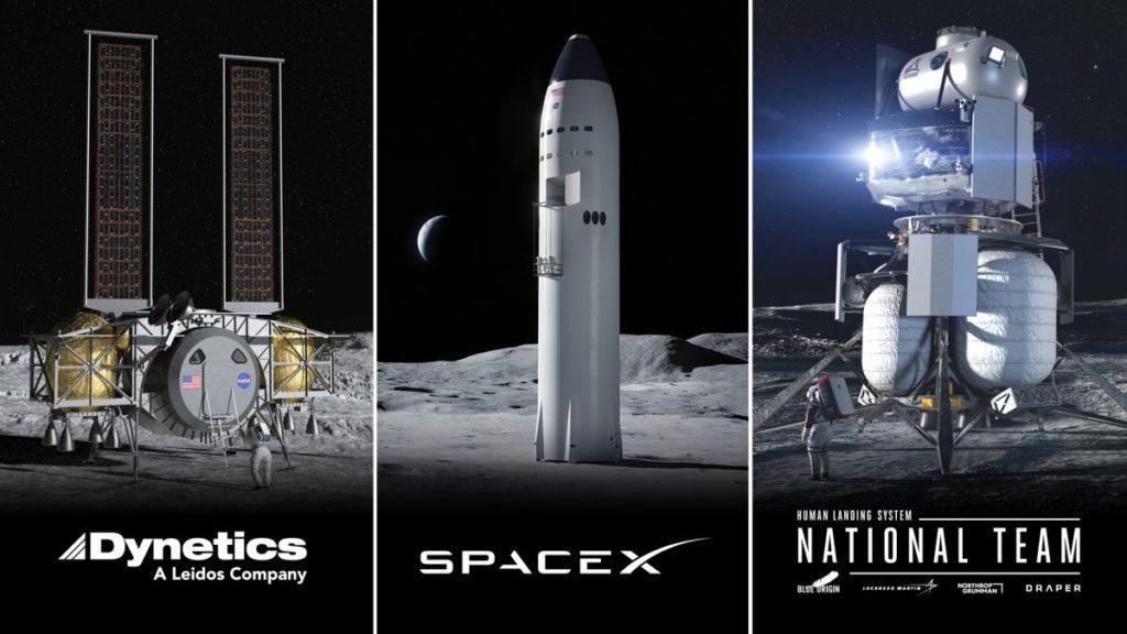 starship a ďalšie landery programu Artemis