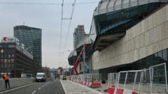 HB Reavis autobusová stanica mlynské nivy prejazdná oprava Bratislava opravár práca ulica cesta