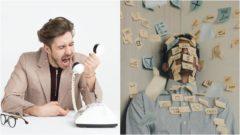 práca muž telefón hnev