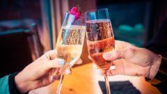 šampanskéoslava prípitok alkohol