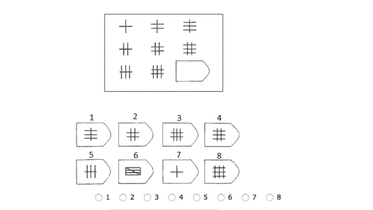 Raven matrice IQ test