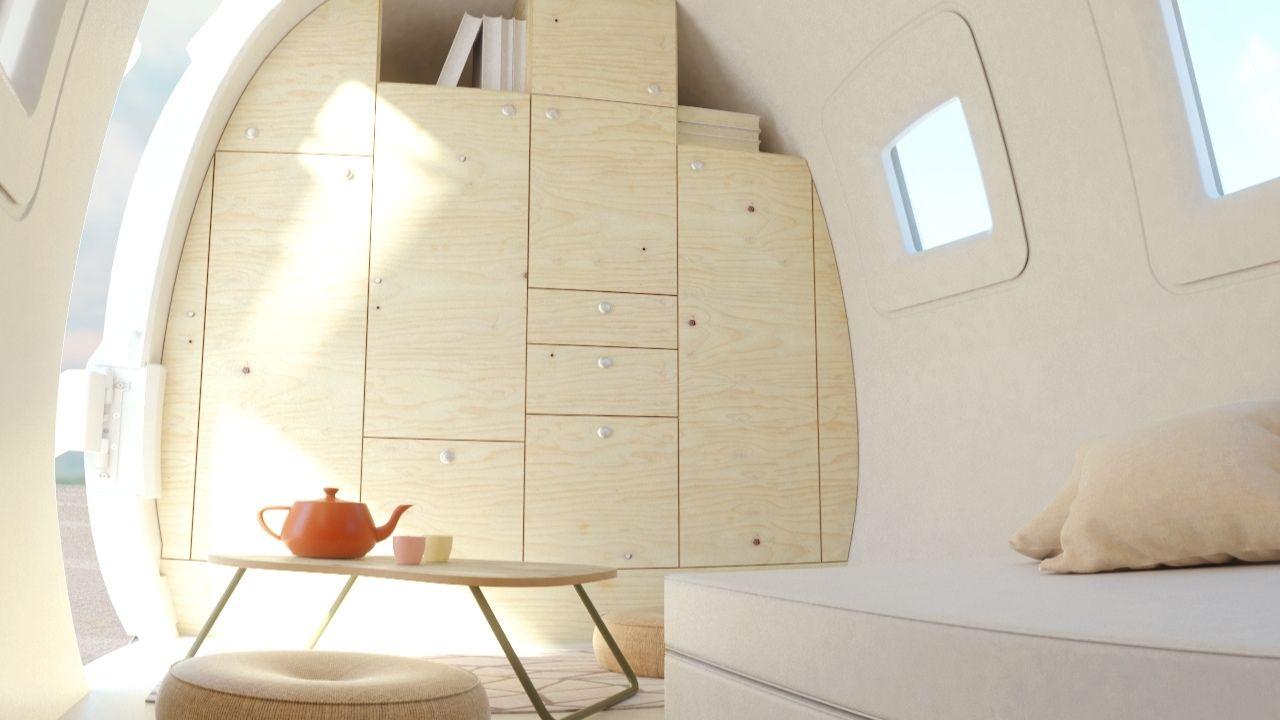 Ecocapsule SPACE interiér