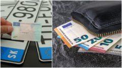 pokuta peňaženka peniaze vodičský