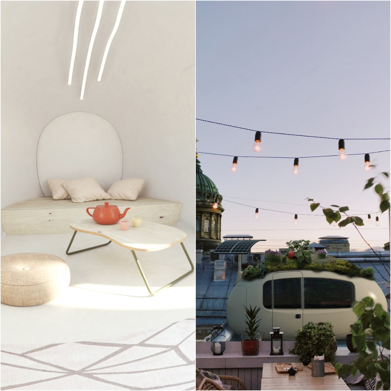 Ecocapsule interiér, exteriér