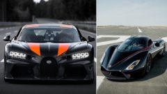 Bugatti Chiron a SSC Tuatara