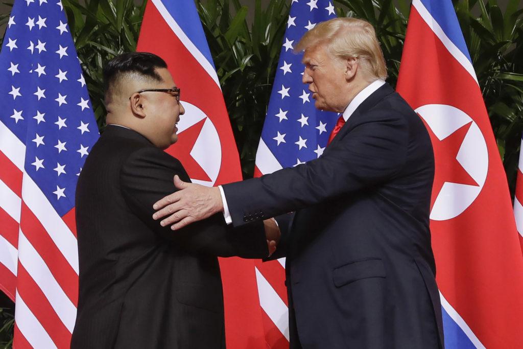 Trump a Kim Čong-un