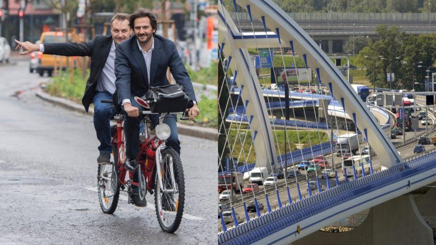 kaliňák na bicykli