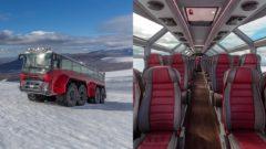 autobus island ľadovce