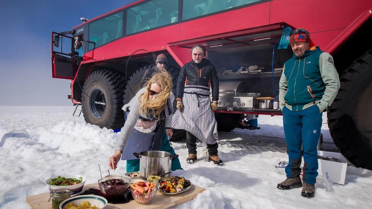 autobus island turizmus ľadovec
