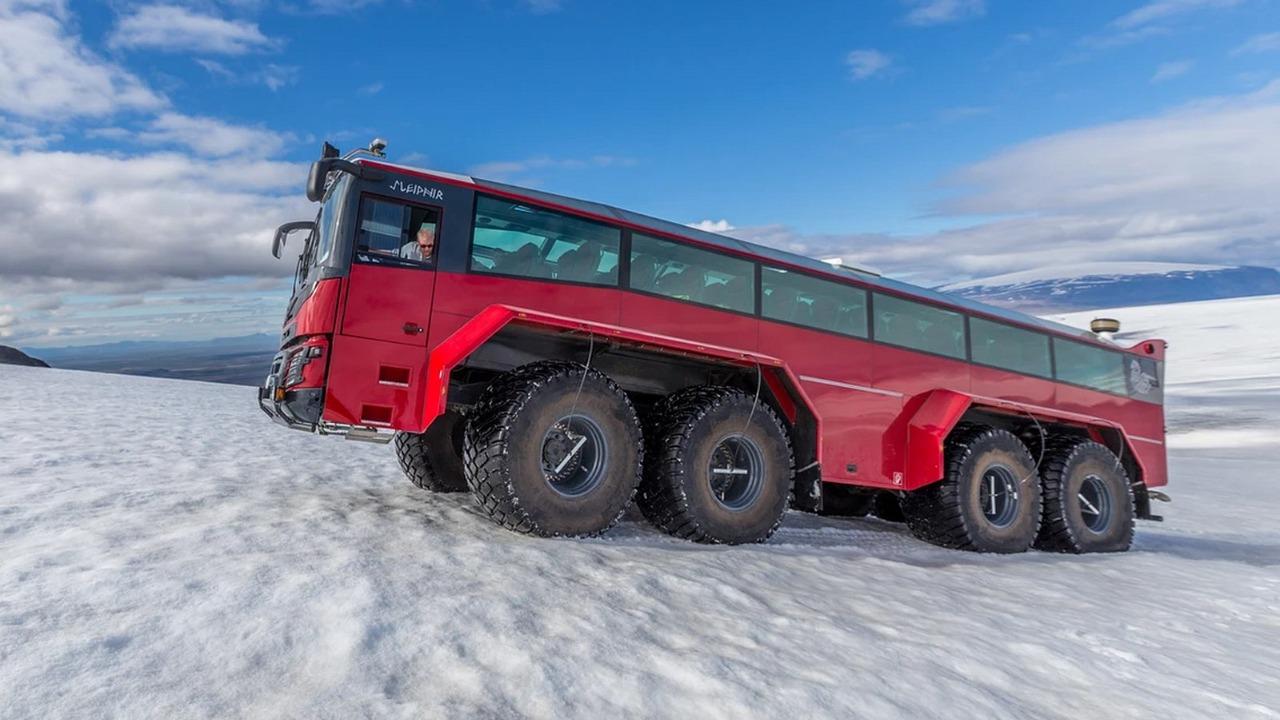 autobus ľadovec turizmus island