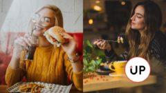 vegan dievča žena jedlo