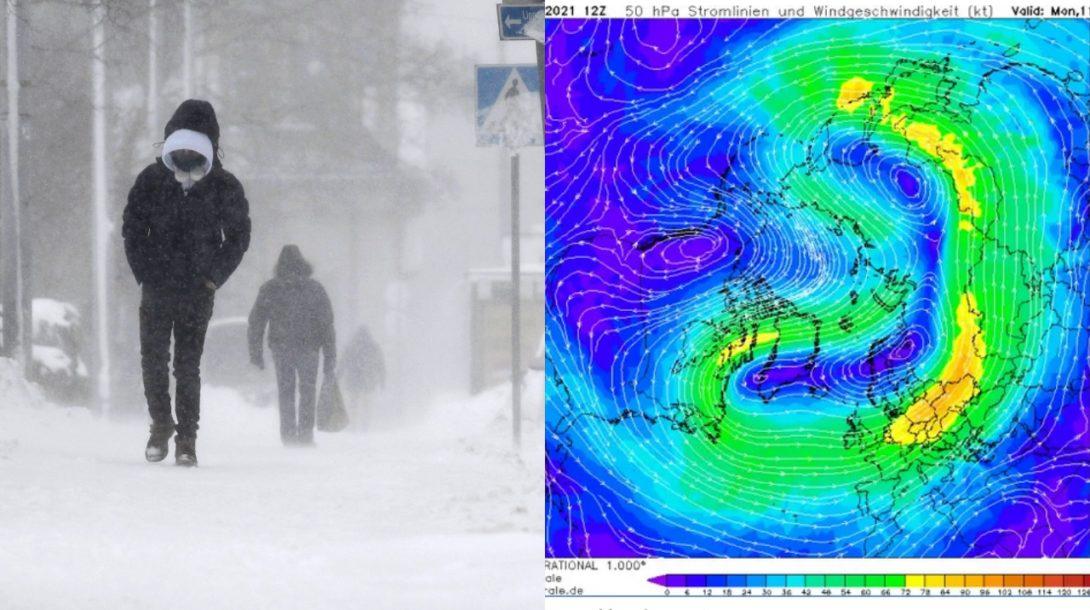Polárny vortex, zima