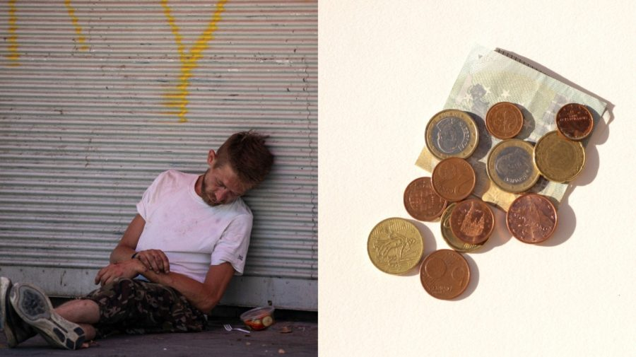 Peniaze, bezdomovec