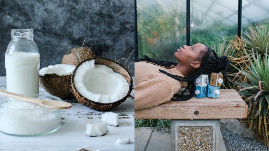 Kokosové mlieko, ležiaca žena