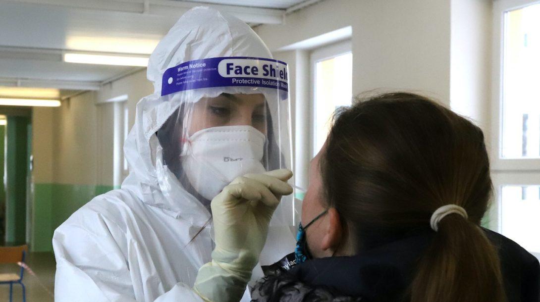 koronavírus testovanie
