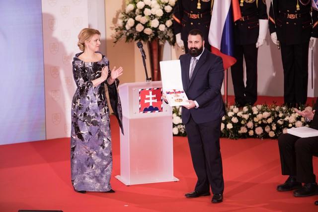 Zuzana Čaputová a Davide Cibula