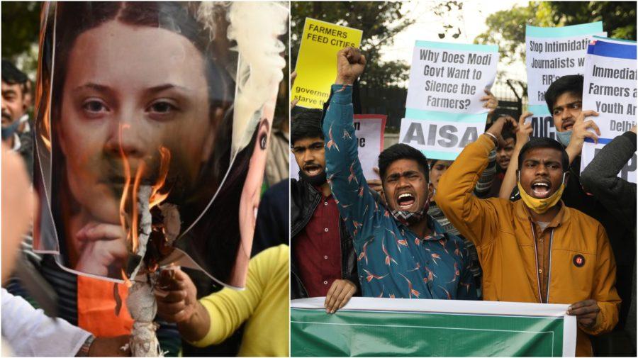 greta thunberg protest farmárov india