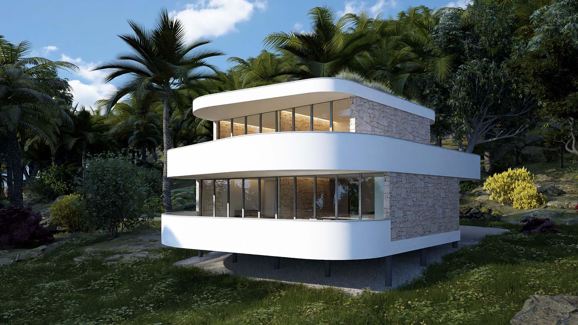 architektúra, reality, dom