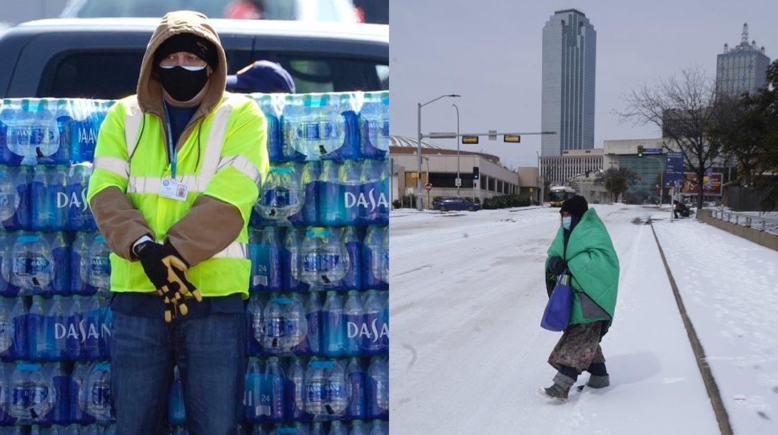 Texas zima kríza zahraničie