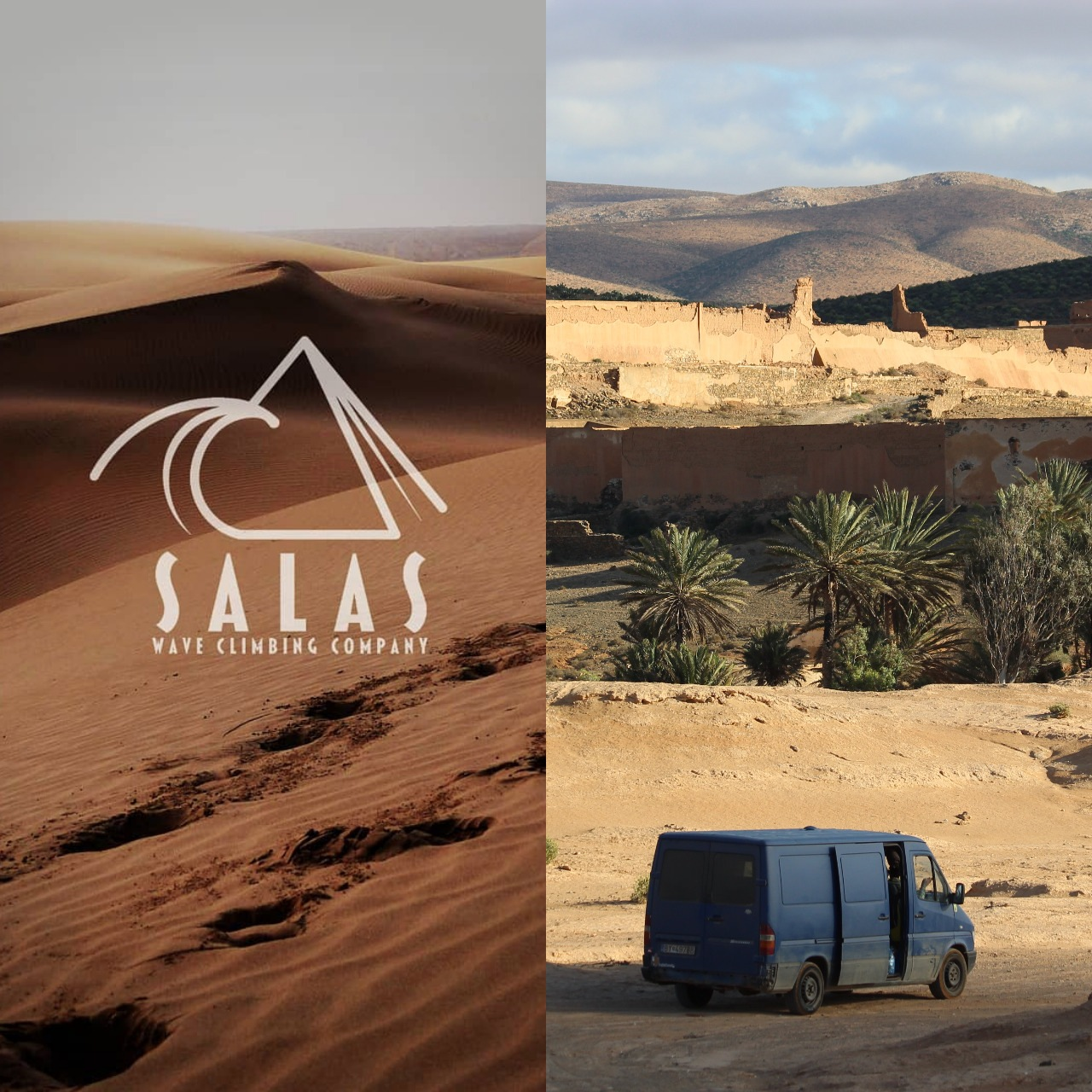 Salas waveclimbing company Maroko karavan