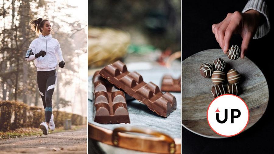 Zdravé sladkosti čokoláda beh