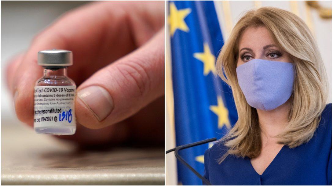 Zuzana Čaputová vakcína