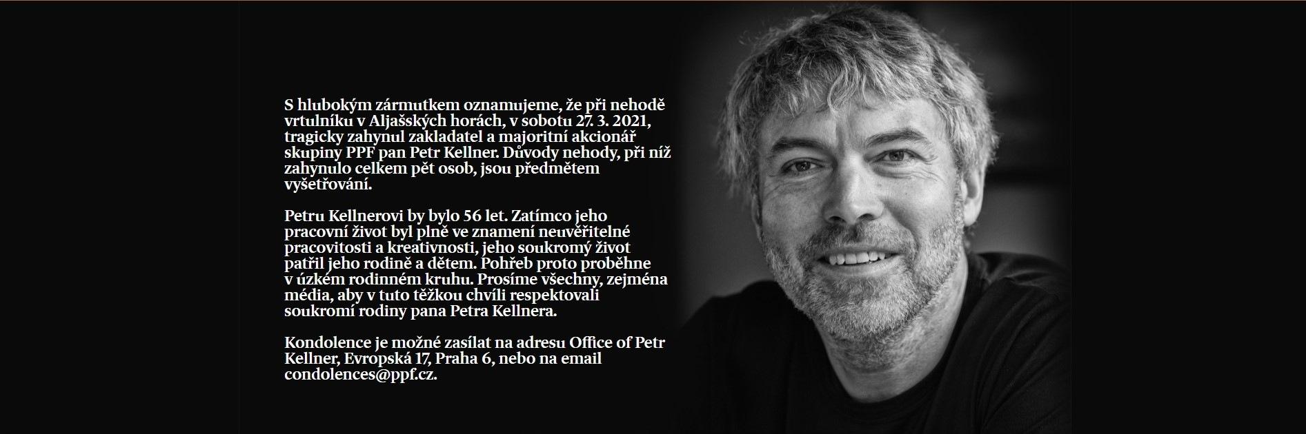 Petr Kellner kondolencia