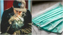 rúško, cigareta