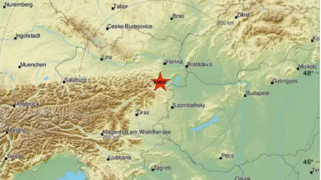 Zemetrasenie Viedeň