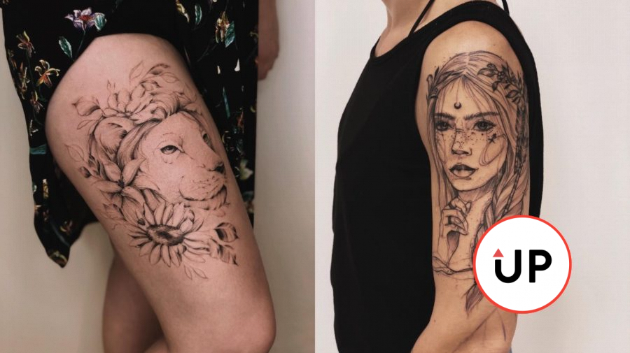 tetovanie tatérka slovensko free hand fine line art