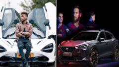 Coman Messi Barcelona autá