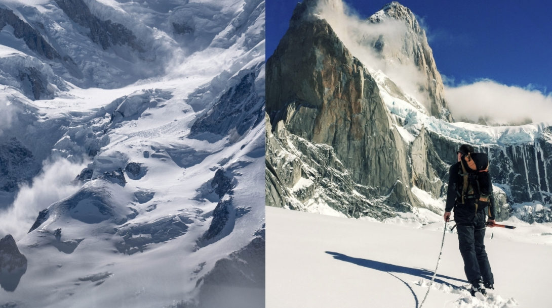 lavína, zima, horolezec