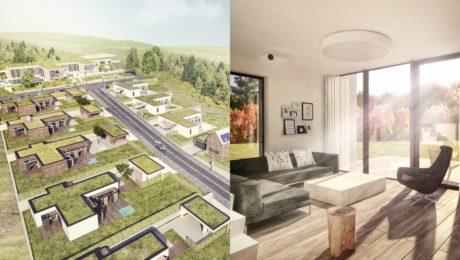 Trsťany novostavby rodinné domy architektúra