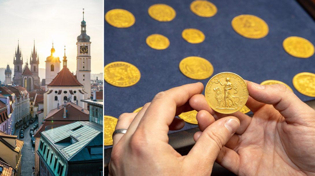 Praha a poklad mince