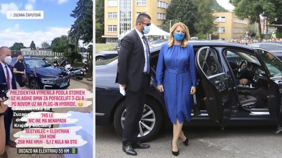 Zuzana Čaputová limuzína