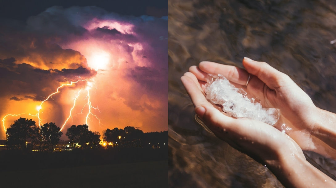 búrka, krúpy, počasie