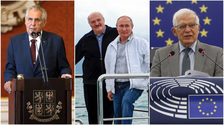 Miloš, Putin, Lukašenko, Borrell