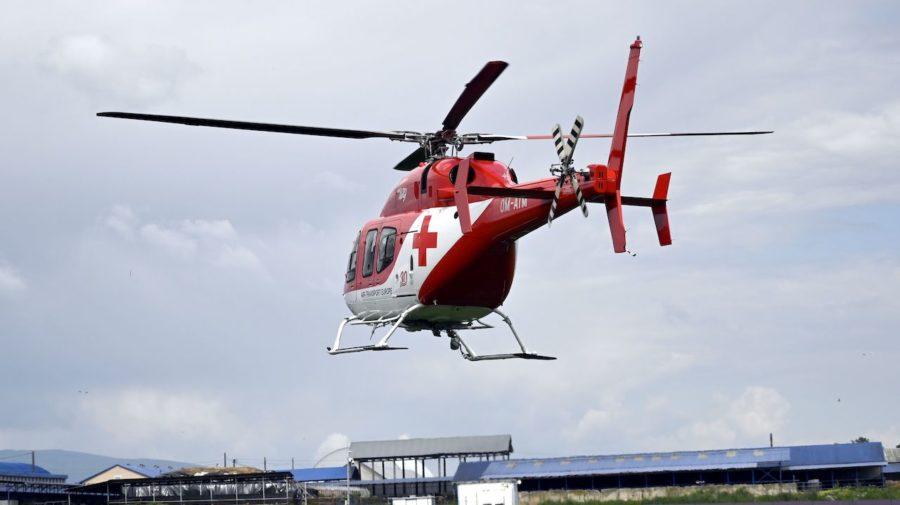 vrtuľník nehoda záchranári