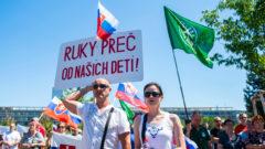 protest, pandemia, kotleba