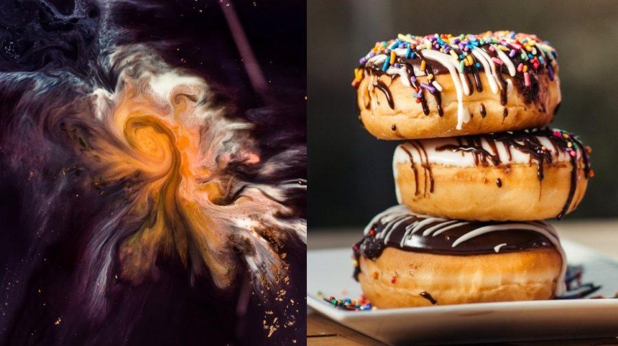 vesmír donut