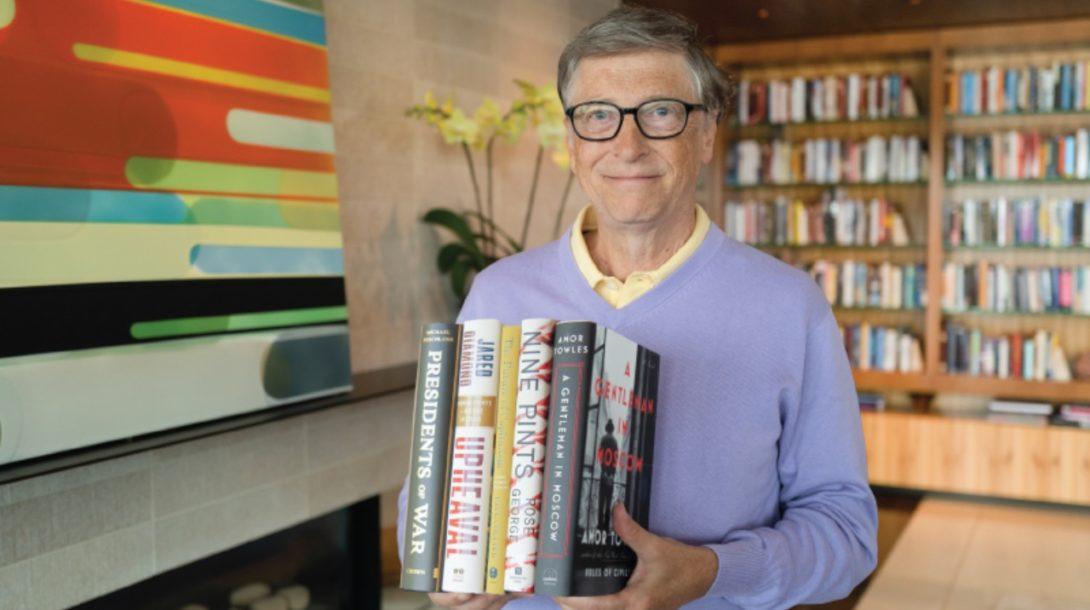 Bill Gates čítanie leto
