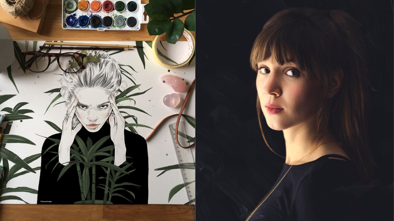 Tina Minor umenie Slovensko príbehy značiek ilustrácie maľovanie
